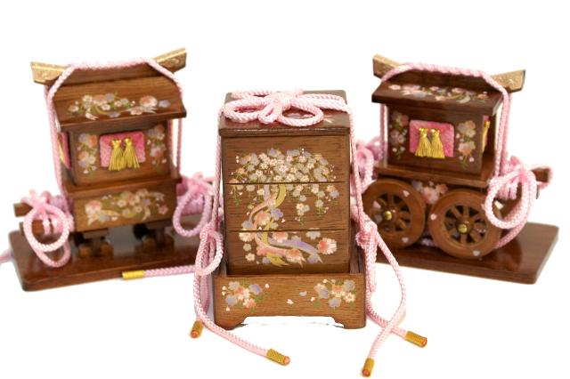 雛人形 三段収納飾り 45A-45
