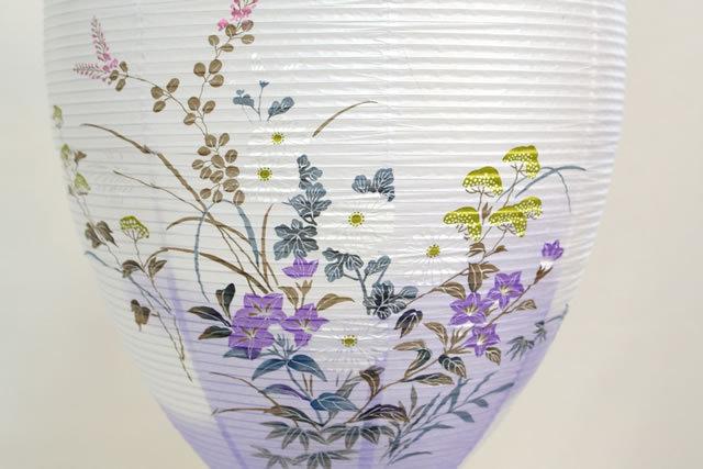 盆提灯 吊提灯 別選 蒔絵 絵入 (810-1230)