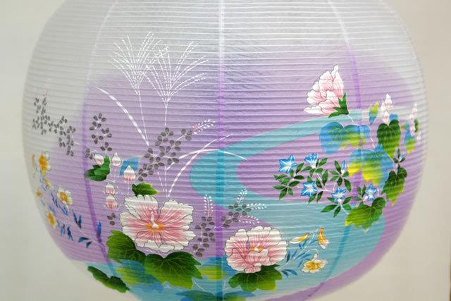 盆提灯 廻転行灯 あかり11号 銀杏蒔絵 対絵 (8605-11-713W)