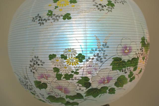 盆提灯 花印蒔絵 絵入 (876-3201)